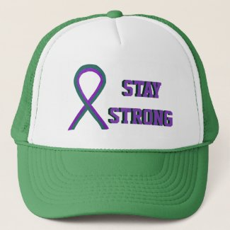 Anal Cancer Awareness Ribbon Custom Caps
