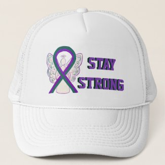 Anal Cancer Awareness Ribbon Custom Hats