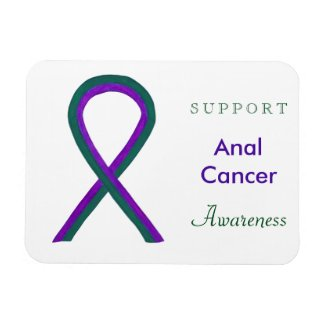 Anal Cancer Awareness Ribbon Custom Magnet