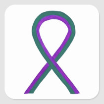 Anal Cancer Awareness Ribbon Custom Sticker Decals