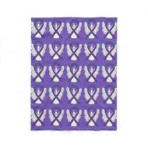 Anal Cancer Awareness Ribbon Fleece Angel Blankets