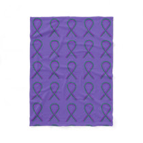 Anal Cancer Awareness Ribbon Fleece Soft Blankets