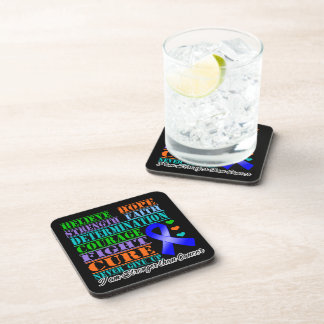 Anal Cancer Believe Strength Determination Coasters