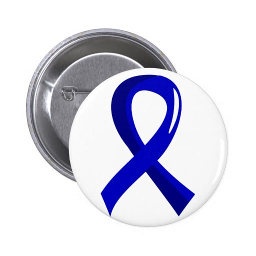 Anal Cancer Blue Ribbon 3 2 Inch Round Button
