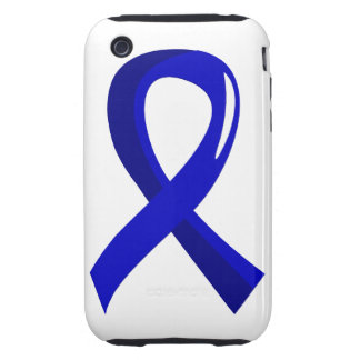 Anal Cancer Blue Ribbon 3 iPhone 3 Tough Case