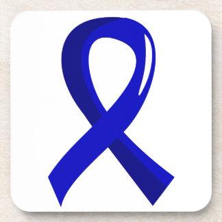 Anal Cancer Blue Ribbon 3 Beverage Coaster