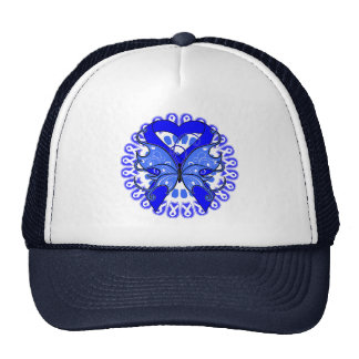 Anal Cancer Butterfly Circle of Ribbons Hat