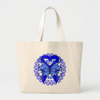 Anal Cancer Butterfly Circle of Ribbons Jumbo Tote Bag
