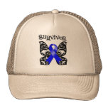 Anal Cancer Butterfly Survivor Trucker Hats
