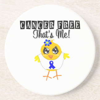 Anal Cancer - Cancer Free That's Me Beverage Coaster