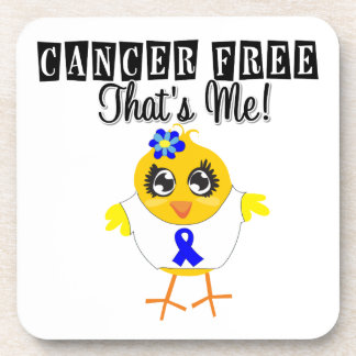 Anal Cancer - Cancer Free That's Me Coaster