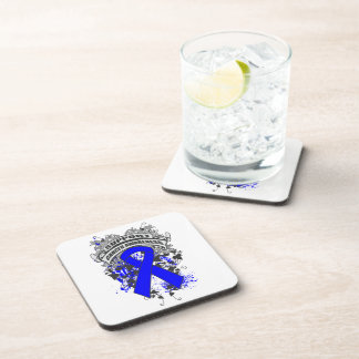 Anal Cancer - Cool Support Awareness Slogan Coasters