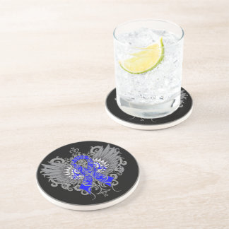 Anal Cancer Cool Wings Drink Coasters