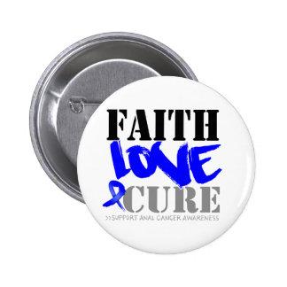 Anal Cancer Faith Love Cure 2 Inch Round Button
