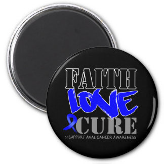 Anal Cancer Faith Love Cure 2 Inch Round Magnet