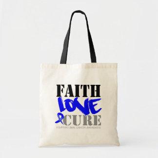 Anal Cancer Faith Love Cure Budget Tote Bag
