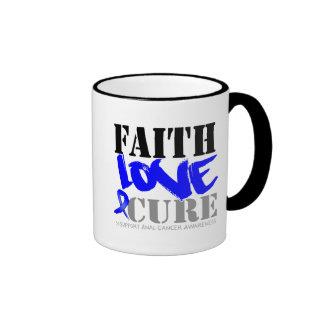 Anal Cancer Faith Love Cure Ringer Coffee Mug