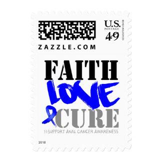 Anal Cancer Faith Love Cure Stamp