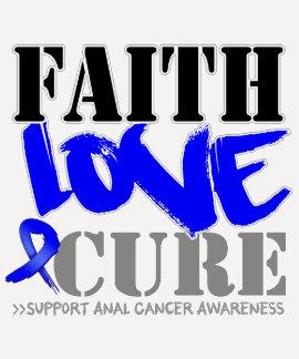 Anal Cancer Faith Love Cure T-shirt