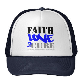 Anal Cancer Faith Love Cure Trucker Hat