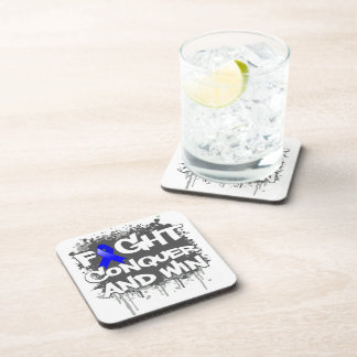 Anal Cancer Fight Conquer and Win.png Coasters