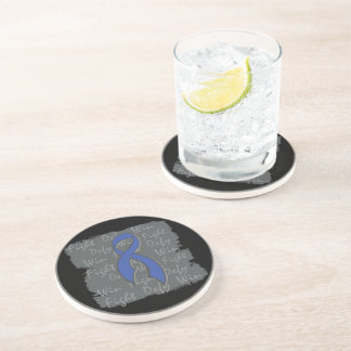 Anal Cancer Fight Defy Win Drink Coasters