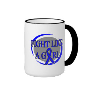Anal Cancer Fight Like A Girl Circular Mug