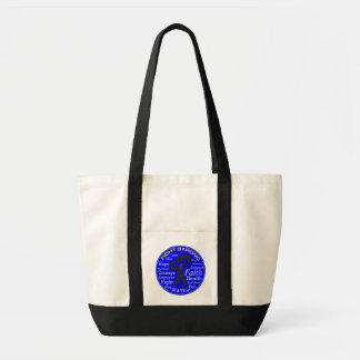 Anal Cancer Fight Strong Motto Collage Impulse Tote Bag