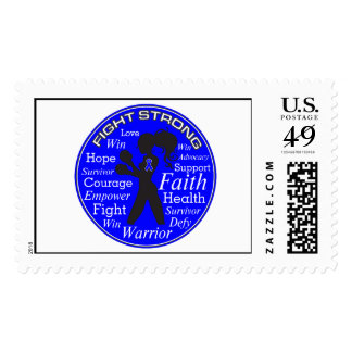 Anal Cancer Fight Strong Motto Collage Postage
