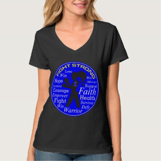 Anal Cancer Fight Strong Motto Collage T-shirt