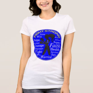Anal Cancer Fight Strong Motto Collage T Shirts