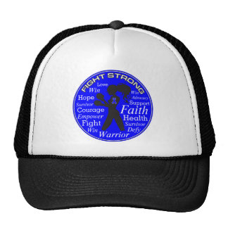 Anal Cancer Fight Strong Motto Collage Trucker Hat