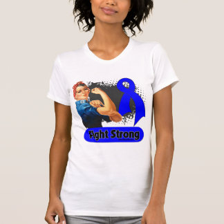 Anal Cancer Fight Strong Rosie Riveter T-shirt