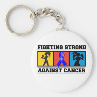 Anal Cancer Fighting Strong Basic Round Button Keychain