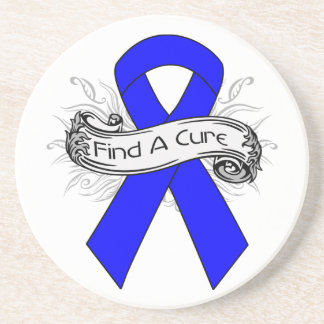 Anal Cancer Find A Cure Ribbon Beverage Coasters