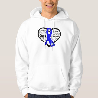 Anal Cancer Heart Ribbon Collage Hoody