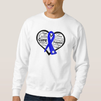 Anal Cancer Heart Ribbon Collage Sweatshirt
