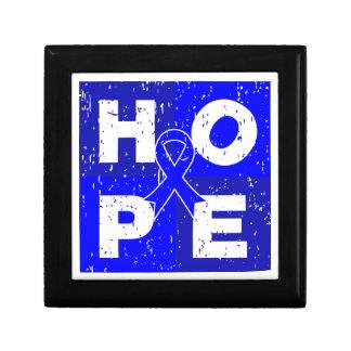 Anal Cancer HOPE Cube Keepsake Box