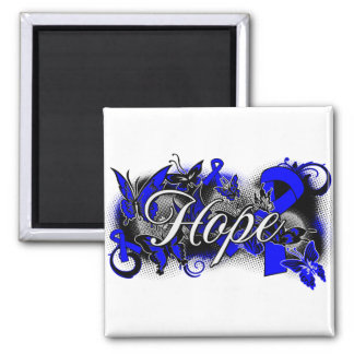 Anal Cancer Hope Garden Ribbon Refrigerator Magnets