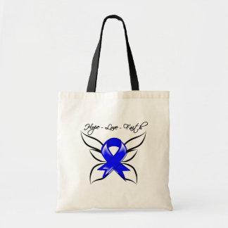 Anal Cancer Hope Love Faith Budget Tote Bag