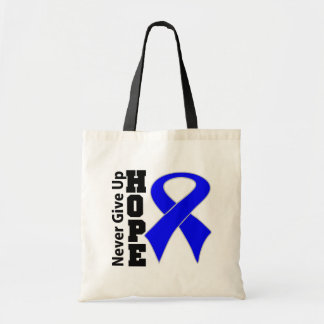 Anal Cancer Hope Never Give Up Canvas Bags