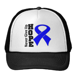 Anal Cancer Hope Never Give Up Mesh Hat