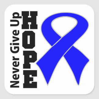 Anal Cancer Hope Never Give Up Square Sticker