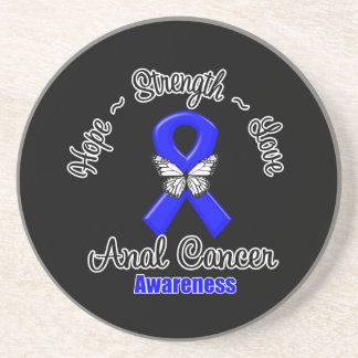 Anal Cancer Hope Strength Love Drink Coasters