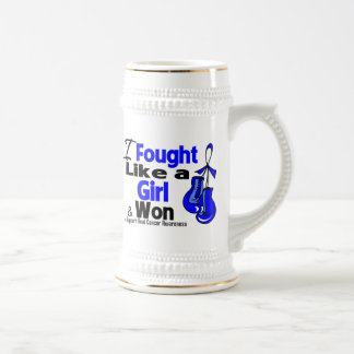 Anal Cancer I Fought Like a Girl and Won 18 Oz Beer Stein