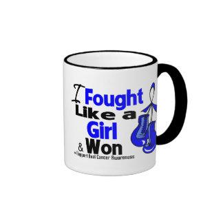 Anal Cancer I Fought Like a Girl and Won Ringer Coffee Mug