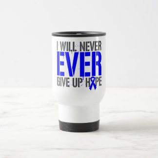 Anal Cancer I Will Never Ever Give Up Hope Coffee Mugs