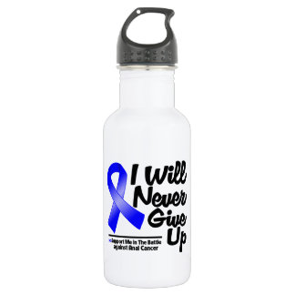 Anal Cancer I Will Never Give Up 18oz Water Bottle