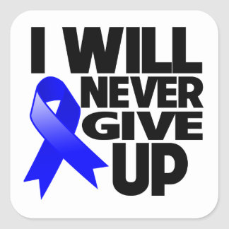 Anal Cancer I Will Never Give Up Square Sticker