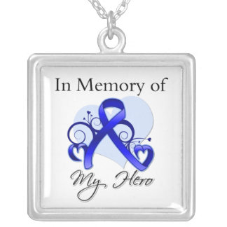 Anal Cancer - In Memory of My Hero Square Pendant Necklace